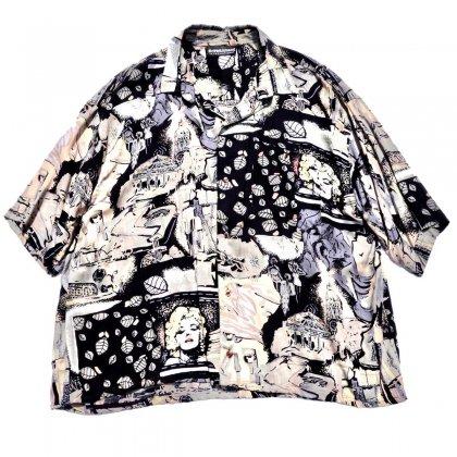 ヴィンテージ  S/S レーヨン シャツ【1980s-Abstract Pattern】