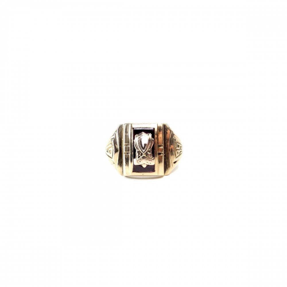 古着 通販 カレッジリング【1939s】【MASTERBUILT 10k】Vintage Class Ring