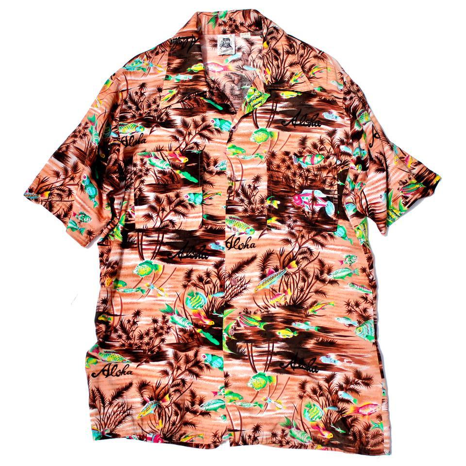 古着 通販 ヴィンテージ  S/S レーヨン シャツ【KENNINGTON-Aloha Style】【1970s-】