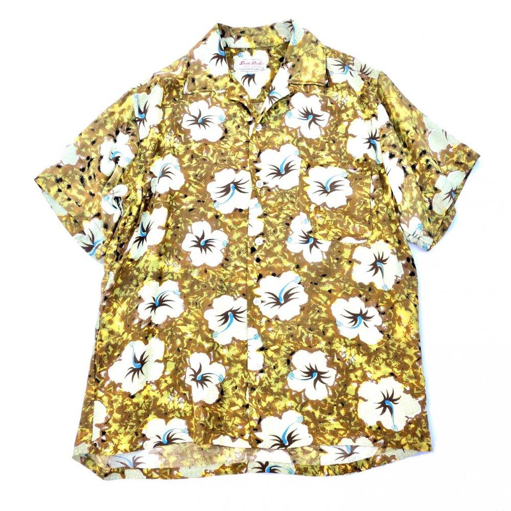 古着 通販 ヴィンテージ  アロハ シャツ【South Pacific】【1960s-】Botanical Flower