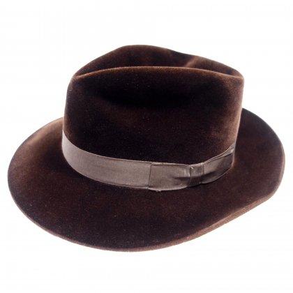 古着 通販 ボルサリーノ【Borsalino】ヴィンテージ ファー ハット【5 STAR QUALITY】【1960s-ANTICA CASA】Vintage Fedora Hat