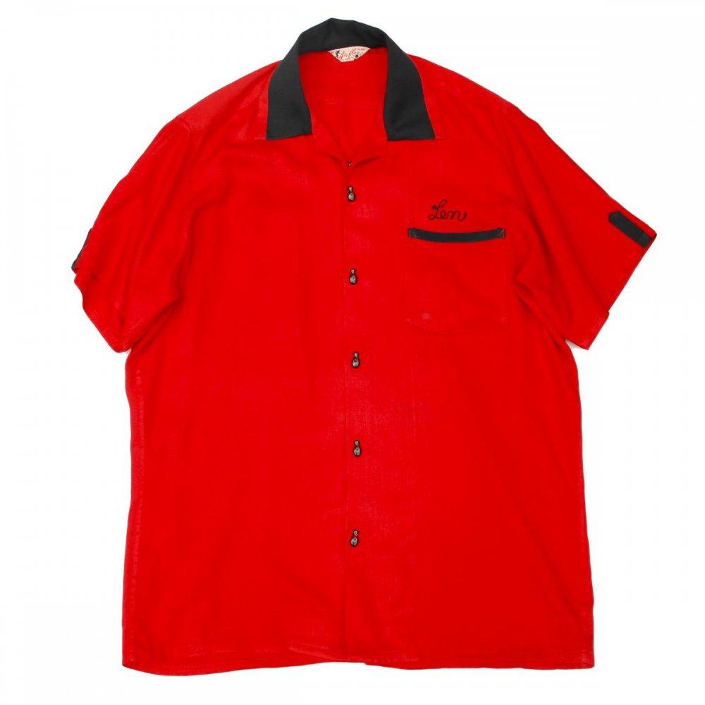 古着 通販 ヴィンテージ ボウリング シャツ【Air-flo】エア フロー【1950's-】S/S RED