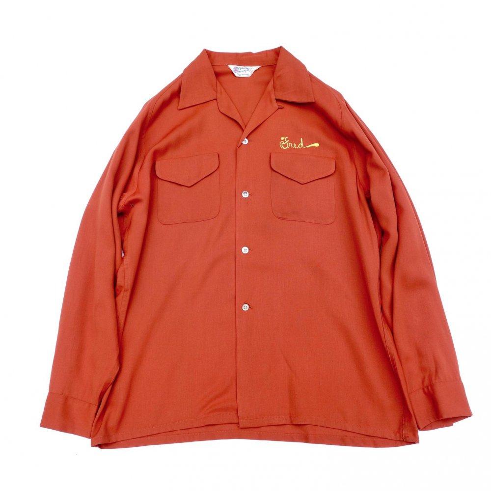 古着 通販 ヴィンテージ ロングスリーブ ボウリング ギャバ シャツ【PURITAN-Swingster】【1950's-】