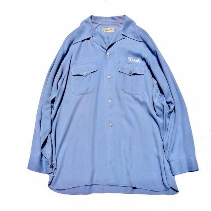 ヴィンテージ ロングスリーブ ボウリング ギャバ シャツ【famous-Sportswear】【1940's~】