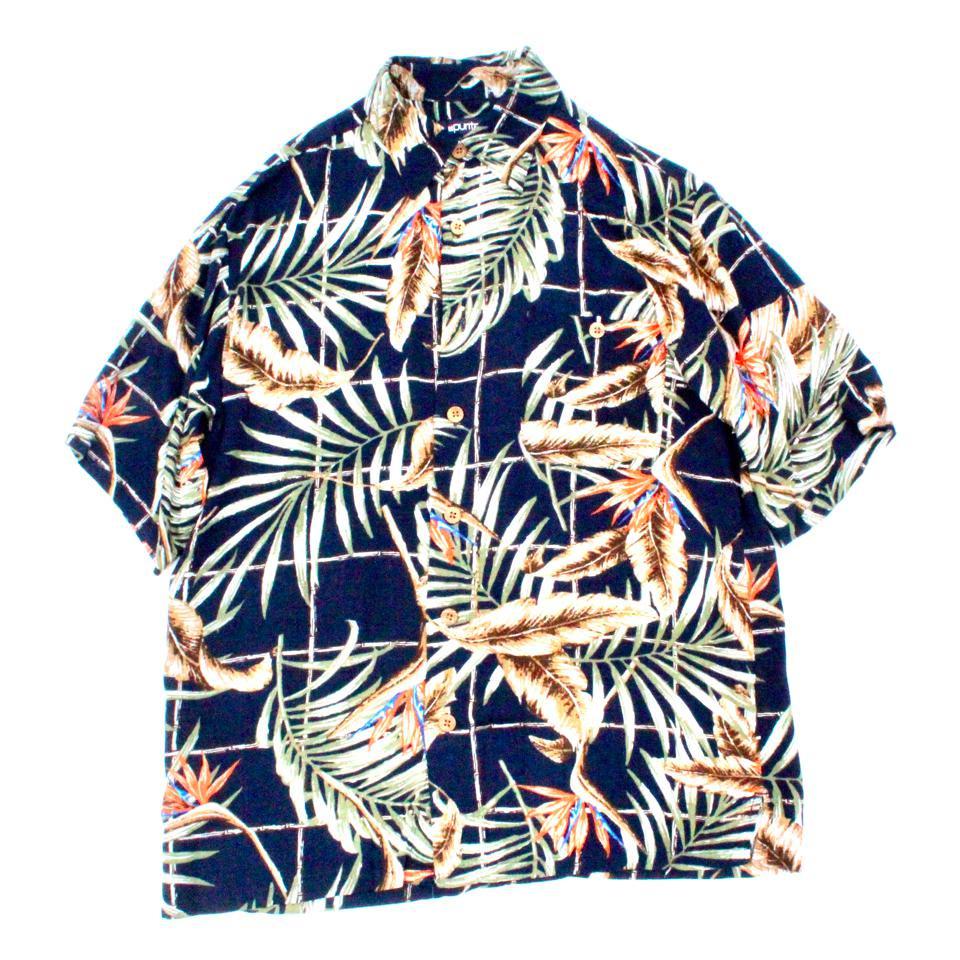 古着 通販 S/S レーヨン シャツ【PURITAN】【Leaf Aloha】