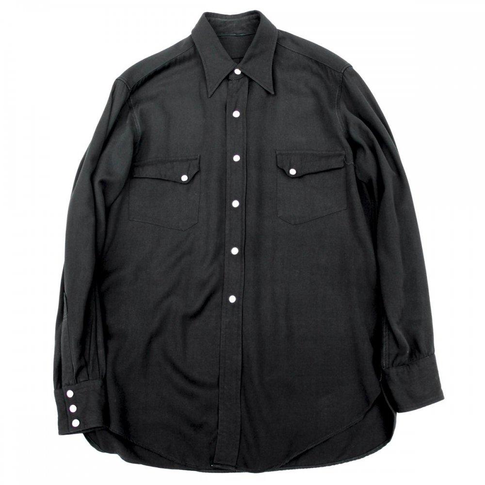 古着 通販 ヴィンテージ レーヨン ギャバ ウェスタンシャツ【1950's-Black】