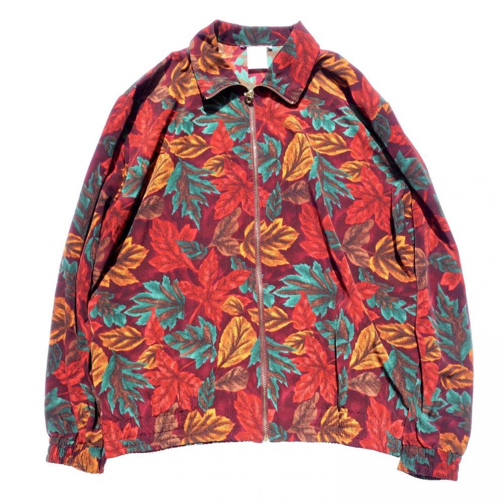 古着 通販 ヴィンテージ オールプリント ライト ブルゾン【1980's-】Autumn Leaf