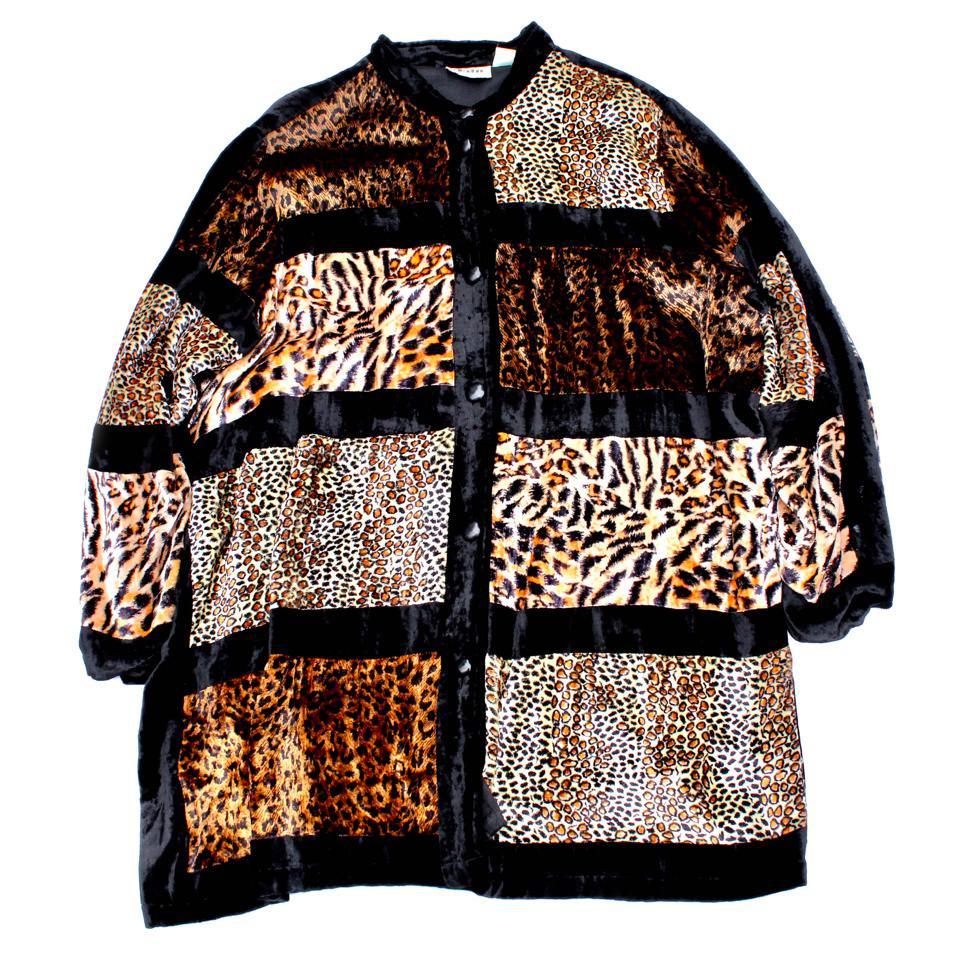 古着 通販 ヴィンテージ ヴェルヴェット N/C ジャケット【1980's-】 Animal Pattern