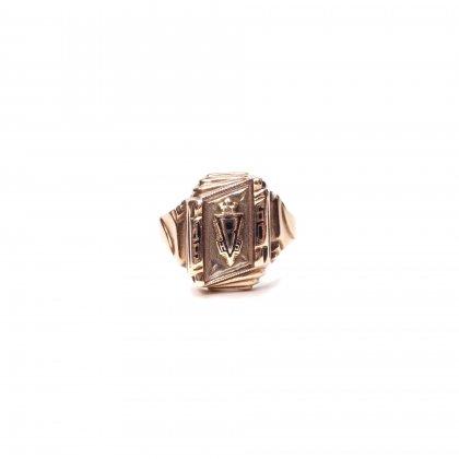 ヴィンテージ カレッジリング【1960s-】【Herff Jones 10kt Gold】