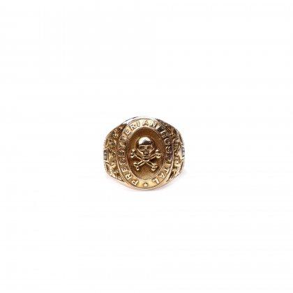 ヴィンテージ カレッジリング【1937s-】【10kt Gold】【Mement Mori Skull】