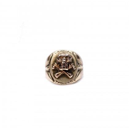 ヴィンテージ メキシカン リング【1940s-】【Gold Skull Top】