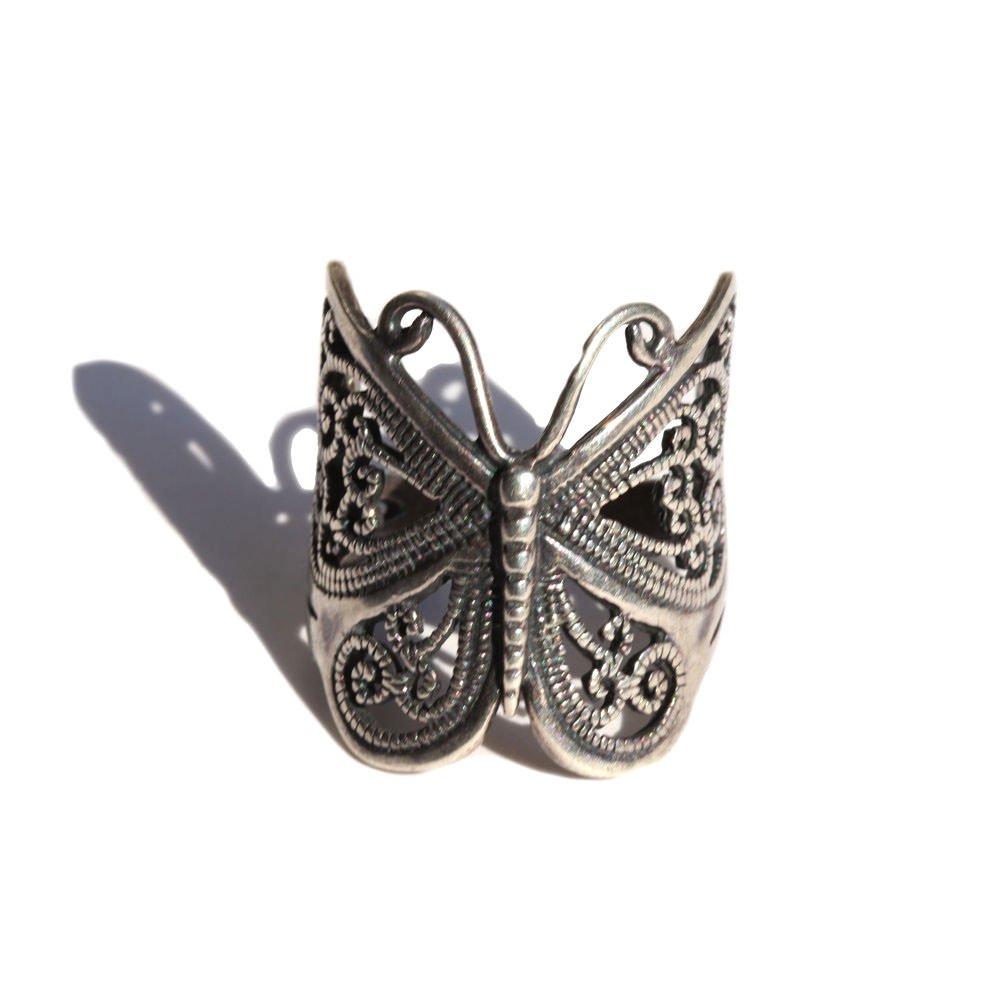 古着 通販 ヴィンテージ バタフライ モチーフ リング【Silver Handmade】Vintage Ring
