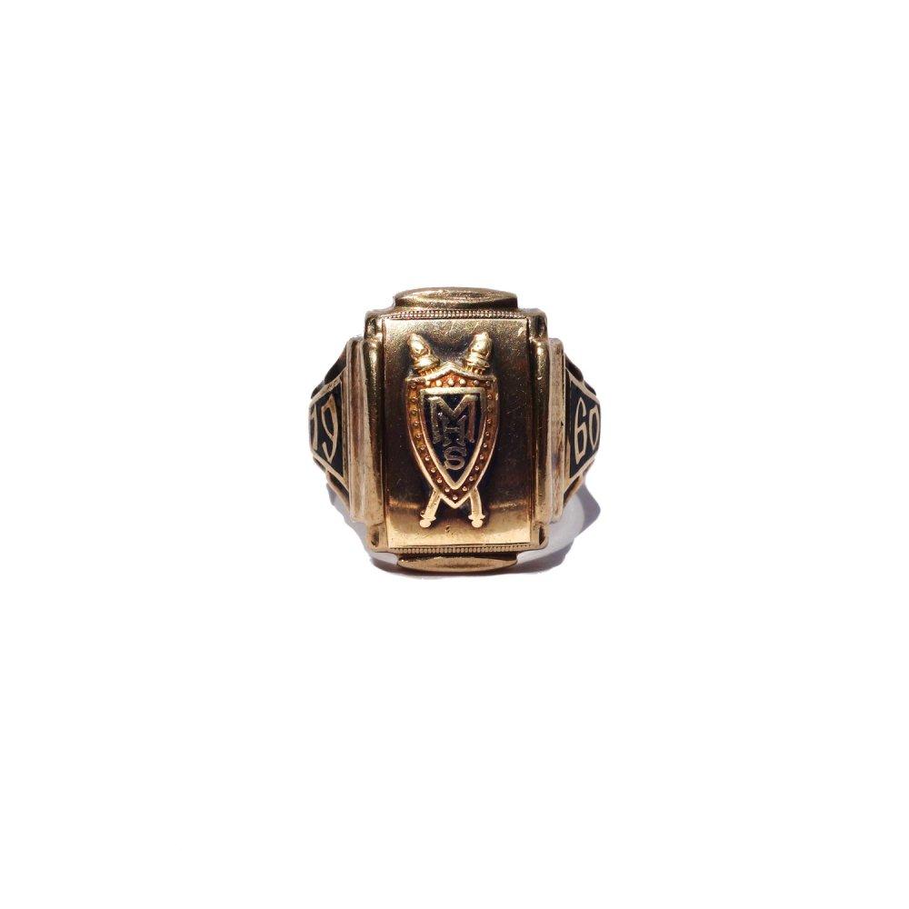 古着 通販 ヴィンテージ カレッジリング【1960s】【HJ 10kt Gold】
