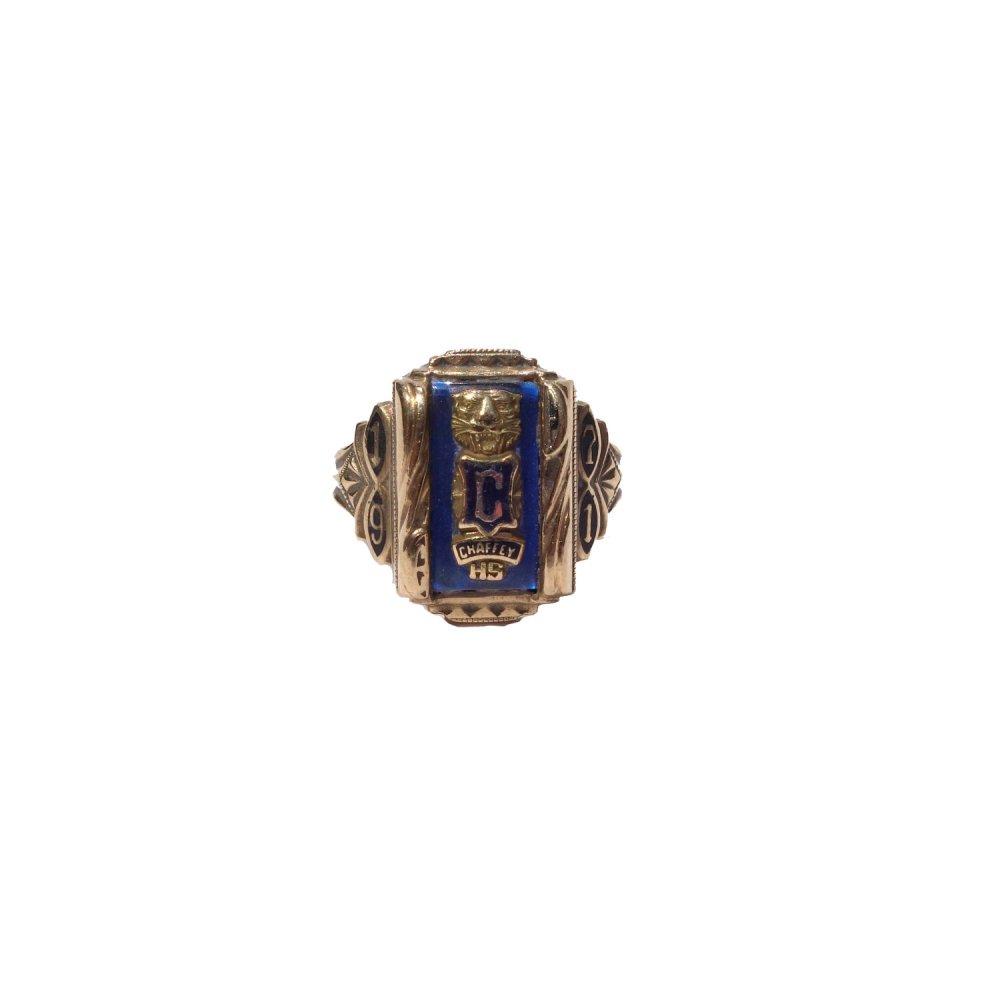 古着 通販 ヴィンテージ カレッジリング【1971s】【HJ 10kt Gold】