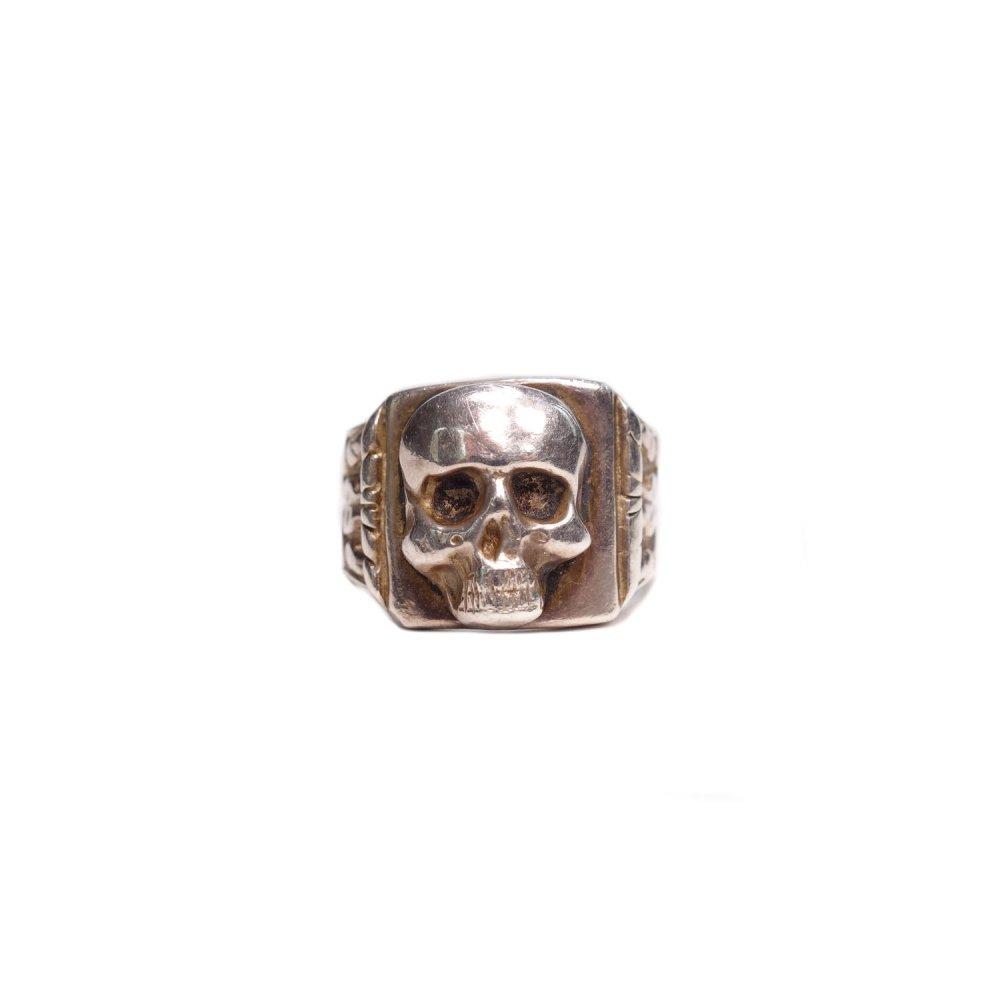 古着 通販 ナチス ドイツ スカルリング【1943's】【900 Silver】WW� German Officers Ring