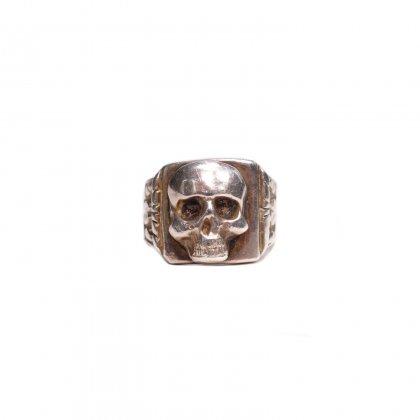 古着 通販 ナチス ドイツ スカルリング【1943's】【900 Silver】WW? German Officers Ring