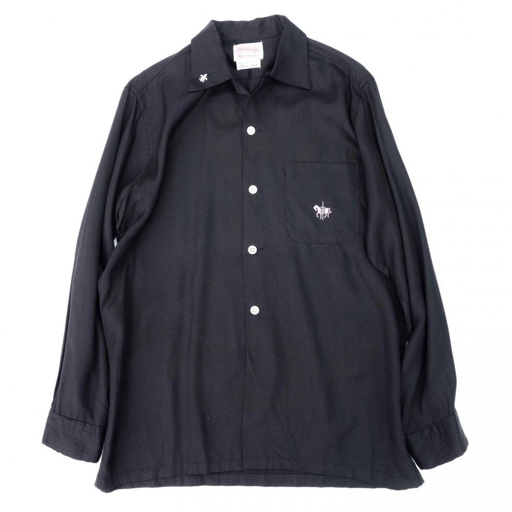 古着 通販 ヴィンテージ シルク ギャバジン  L/S ループカラー シャツ【1950's-】【CREIGHTON】