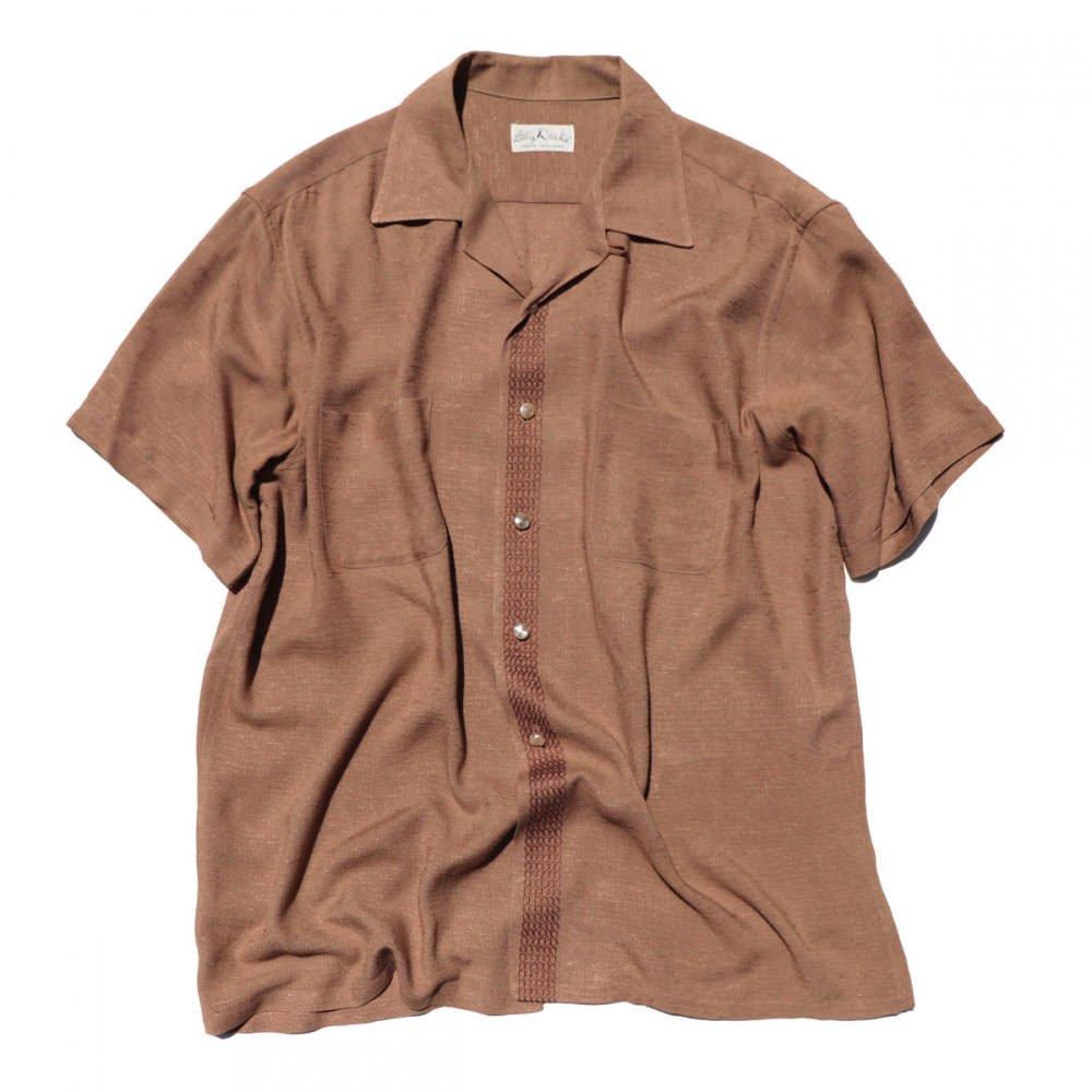 古着 通販 ヴィンテージ レーヨンシルク オープンカラーシャツ【1960's-】【Lilly Dache】