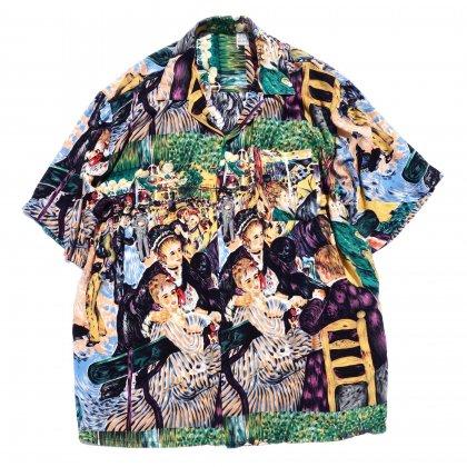 古着 通販 ヴィンテージ レーヨン S/S アートプリント シャツ【1980's-】Renoir Print
