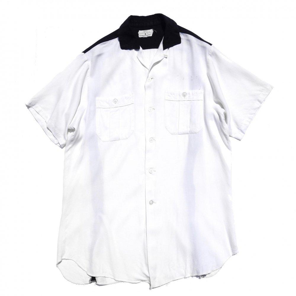 古着 通販 ヴィンテージ  ボウリング  シャツ【1960's-】【Service Bowling Shirt】BK×WH