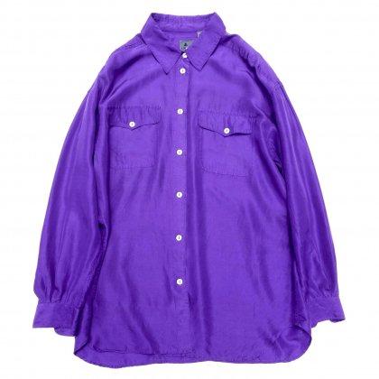 古着 通販 ヴィンテージ  L/S シルク シャツ【1980's-】【LIzwear】Purple
