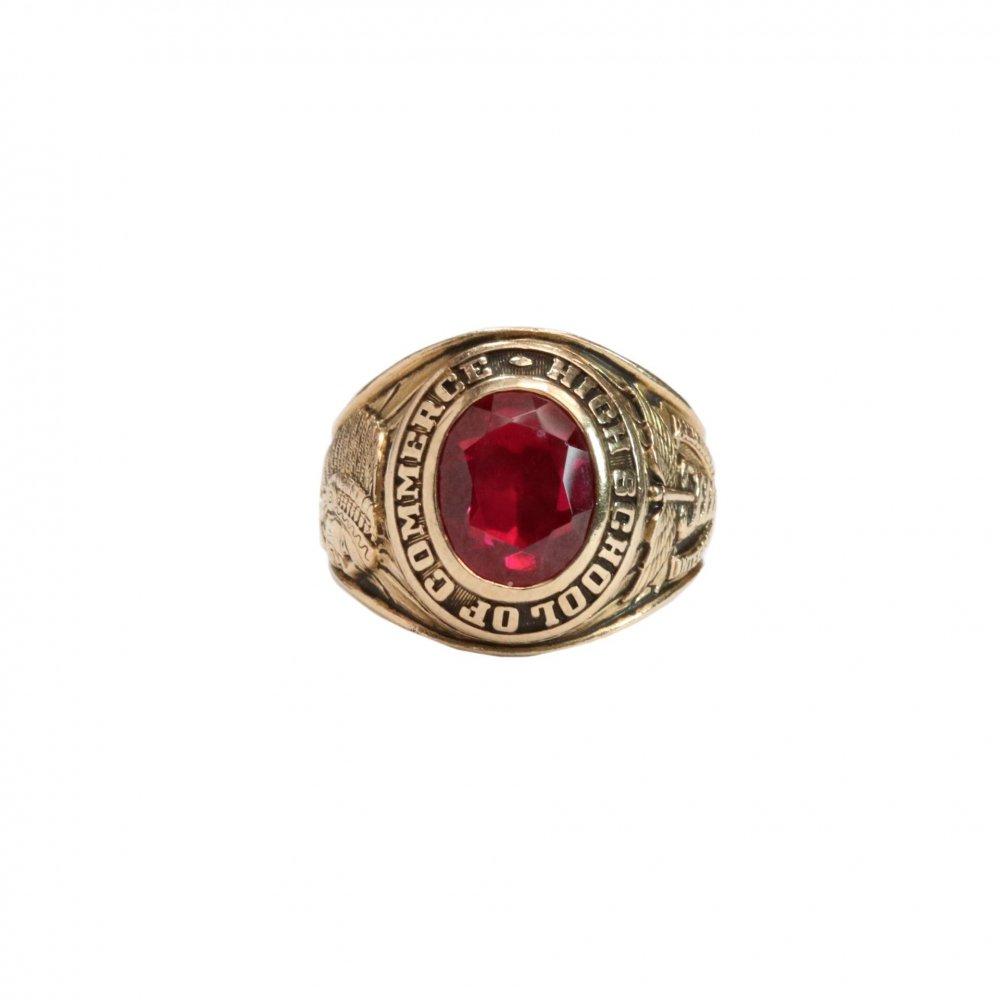 古着 通販 ヴィンテージ カレッジリング【1962s】【Herff Jones 10kt Gold】Red Stone