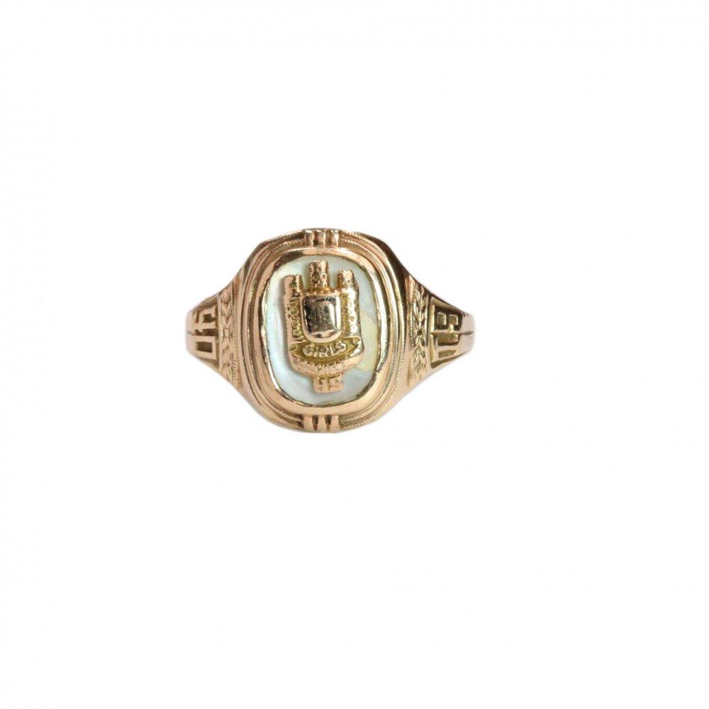 古着 通販 ヴィンテージ カレッジリング【1940s】【10kt Gold】White Shell