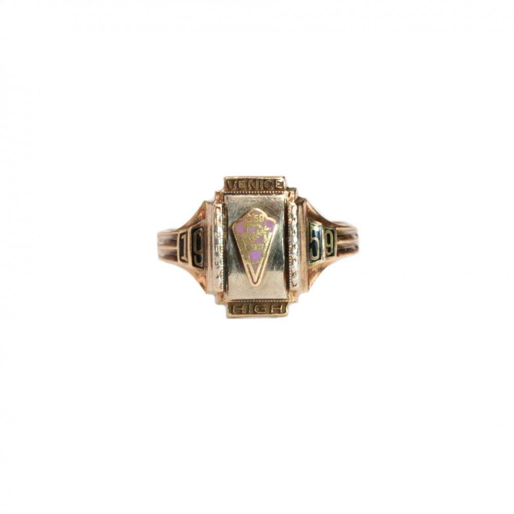 古着 通販 ヴィンテージ カレッジリング【1959s】【Herff Jones 10kt Gold】Purple Top