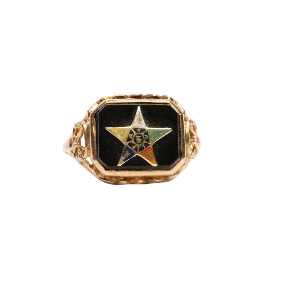 古着 通販 ヴィンテージ フリーメイソン リング【1920s-】【EASTERN STAR】【14Kt Gold】