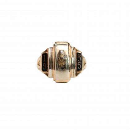 古着 通販 ヴィンテージ カレッジリング【1955s-】【10kt Gold】All Gold Design