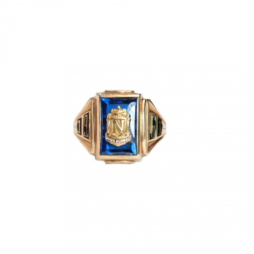 古着 通販 ヴィンテージ カレッジリング【1961s-】【BALFOUR 10kt Gold】Blue Top