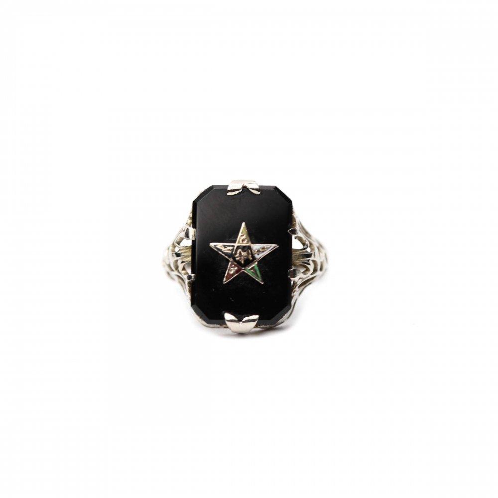 古着 通販 ヴィンテージ フリーメイソン リング【1920s-】【EASTERN STAR】【10Kt White Gold】