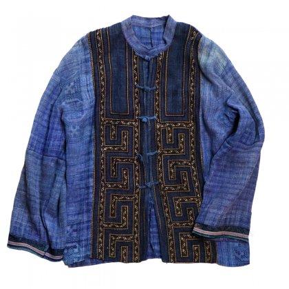 古着 通販 エスニック ヘンプジャケット モン族  手刺繍【1970'~】【Hmong】Indigo Hemp Jacket