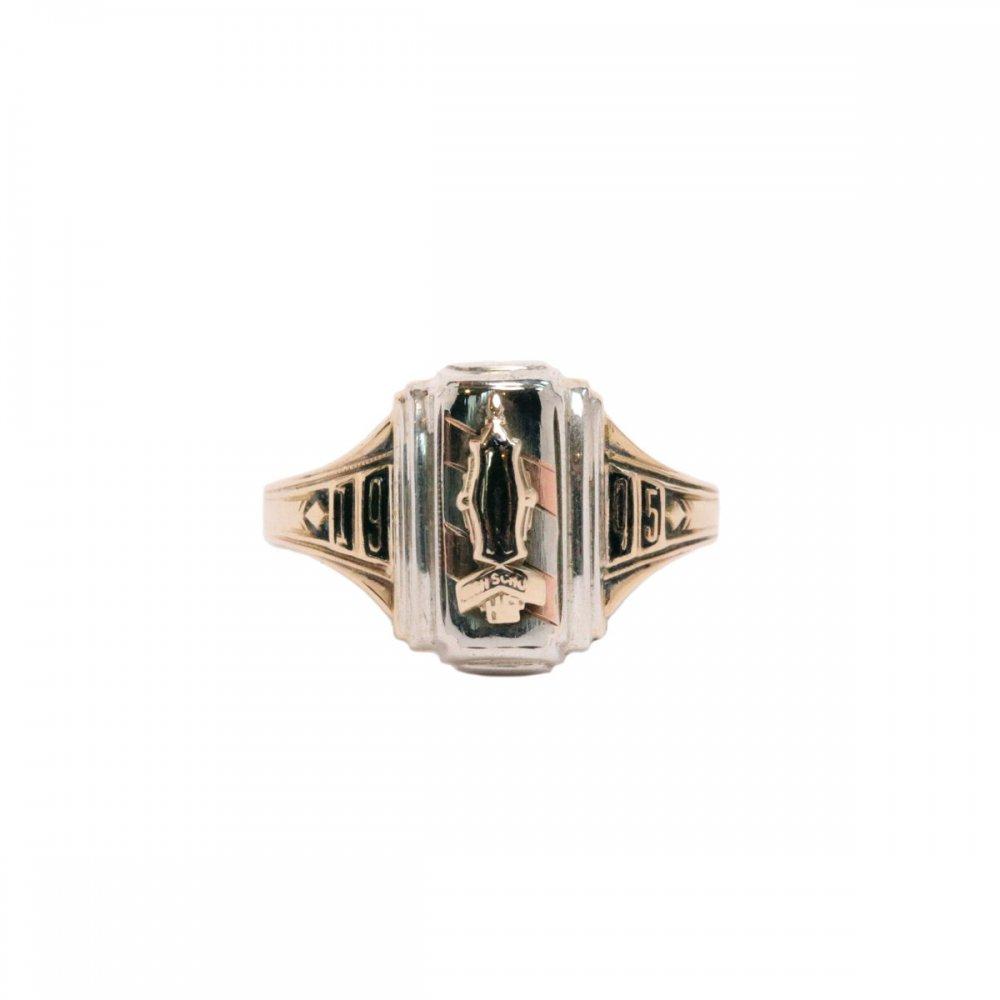 古着 通販 ヴィンテージ スクールリング【1945s】【JOSTENS 10K Gold x STERLING】School Ring