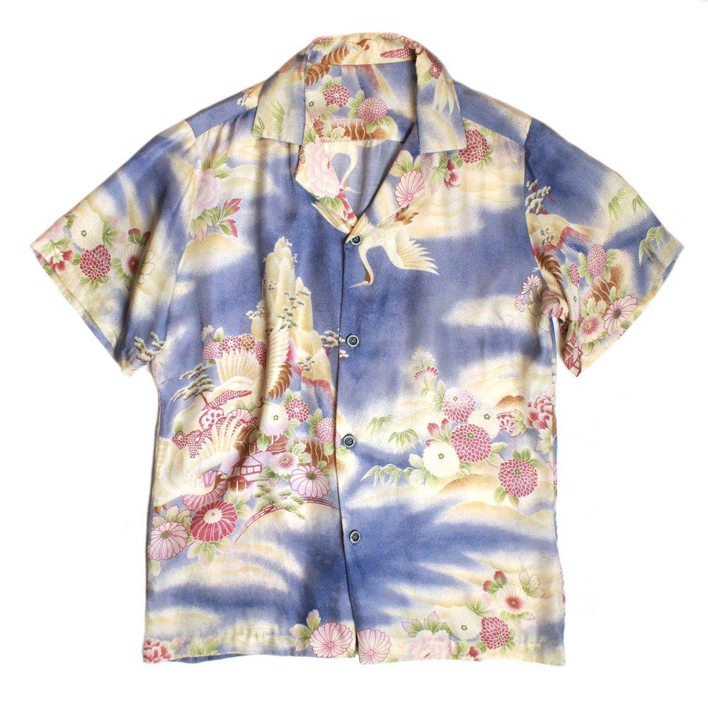古着 通販 ヴィンテージ 和柄 鶴 アロハシャツ【1980's-】Aloha Shirts