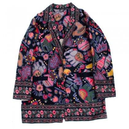古着 通販 ヴィンテージ ビッグシルエット ジャケット【SAMHILLU】【1980's-】Batik ART