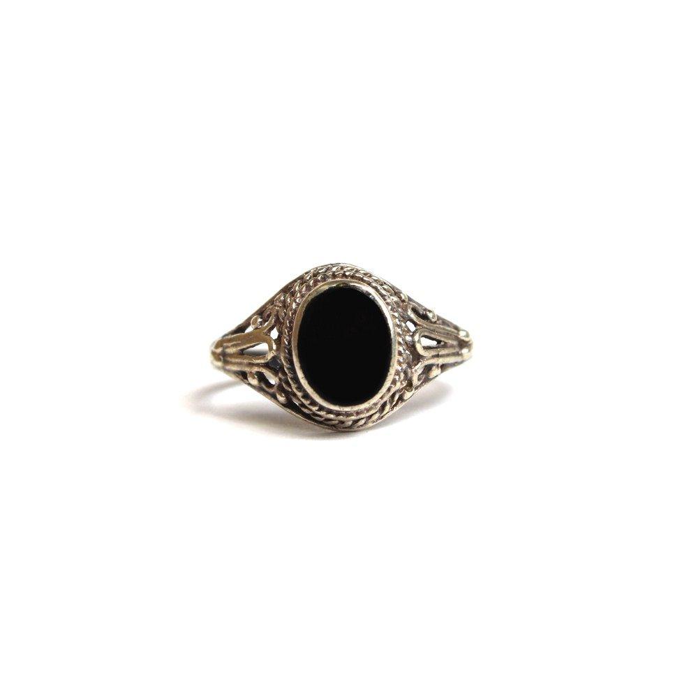 古着 通販 ヴィンテージ ストーンリング【925】【Black Stone】Vintage Ring