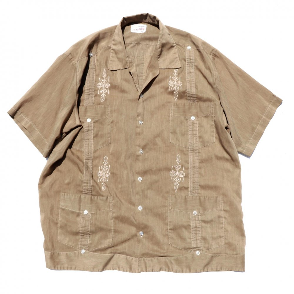 古着 通販 ヴィンテージ キューバシャツ【CAN-CUN】【1970s-】GUAYABERAS
