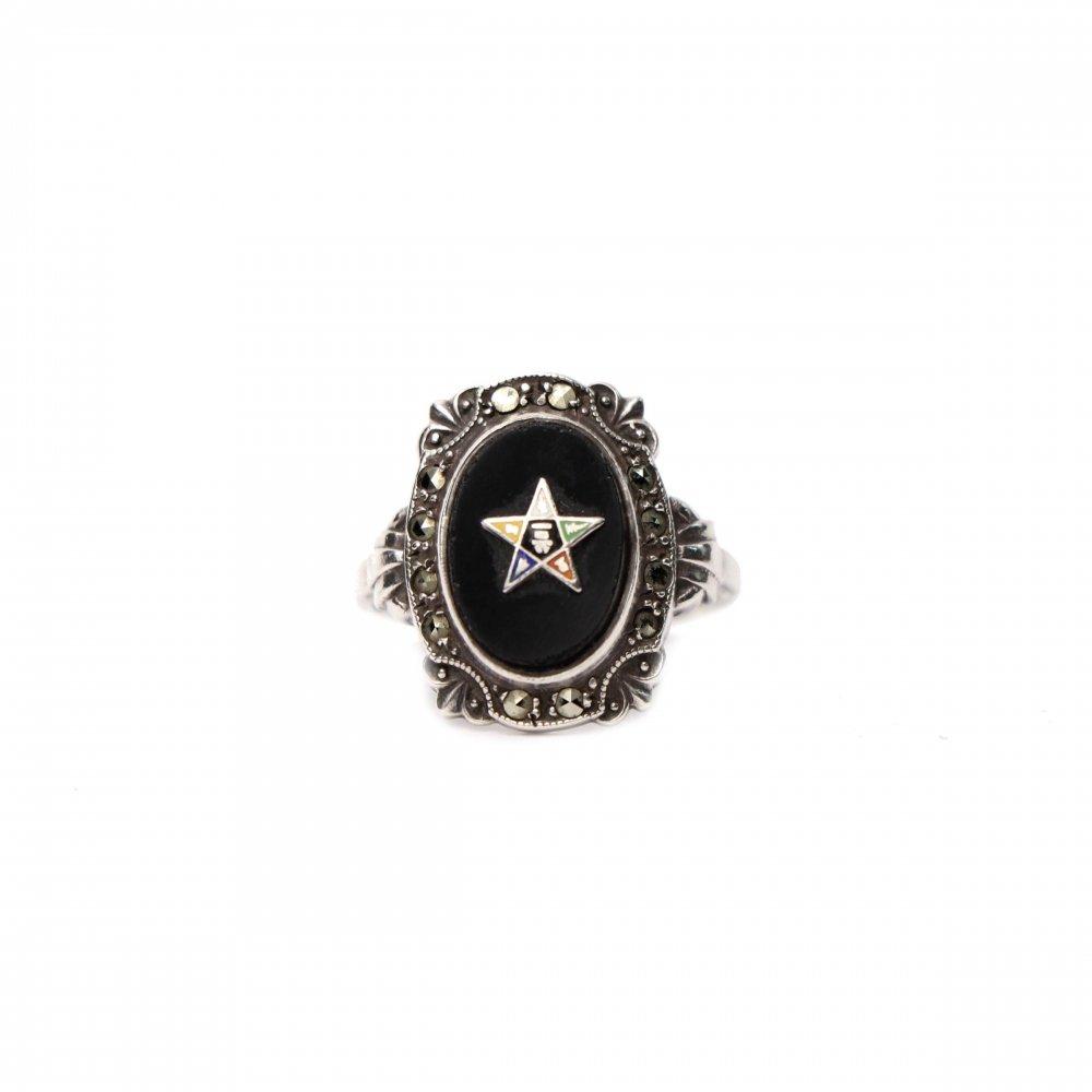 古着 通販 ヴィンテージ フリーメイソン リング【1930s-】【EASTERN STAR】【STERLING】