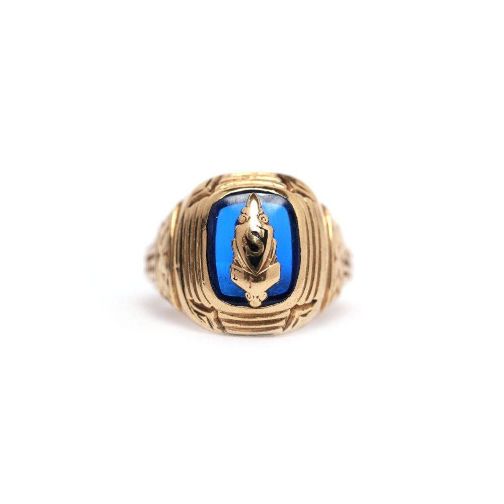 古着 通販 ヴィンテージ カレッジリング【DIEGES & CLUST 10kt Gold】【1942s-】Blue Top & GLD Emblem