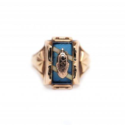 古着 通販 ヴィンテージ カレッジリング【LG Balfour 10kt Gold】【1956s-】Blue Top & GLD Emblem