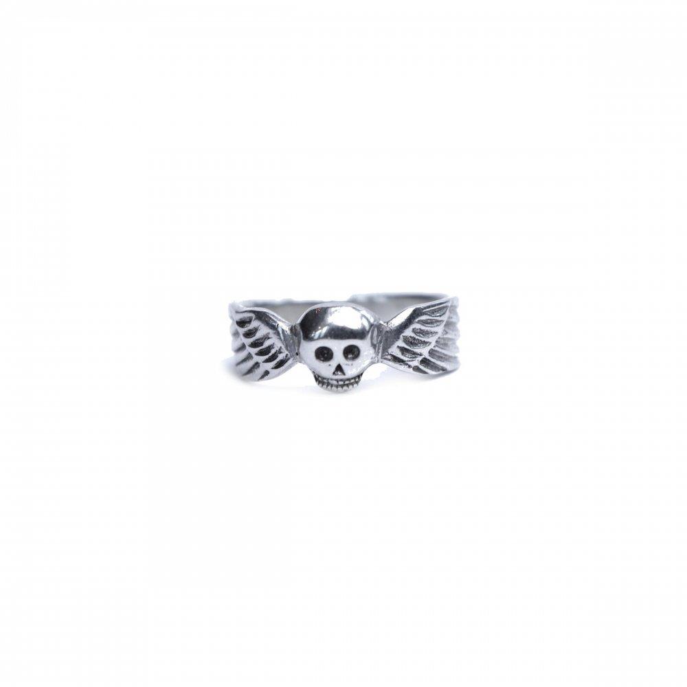 古着 通販 ヴィンテージ スカル リング【Mement Mori】【STERLING】Winged Skull