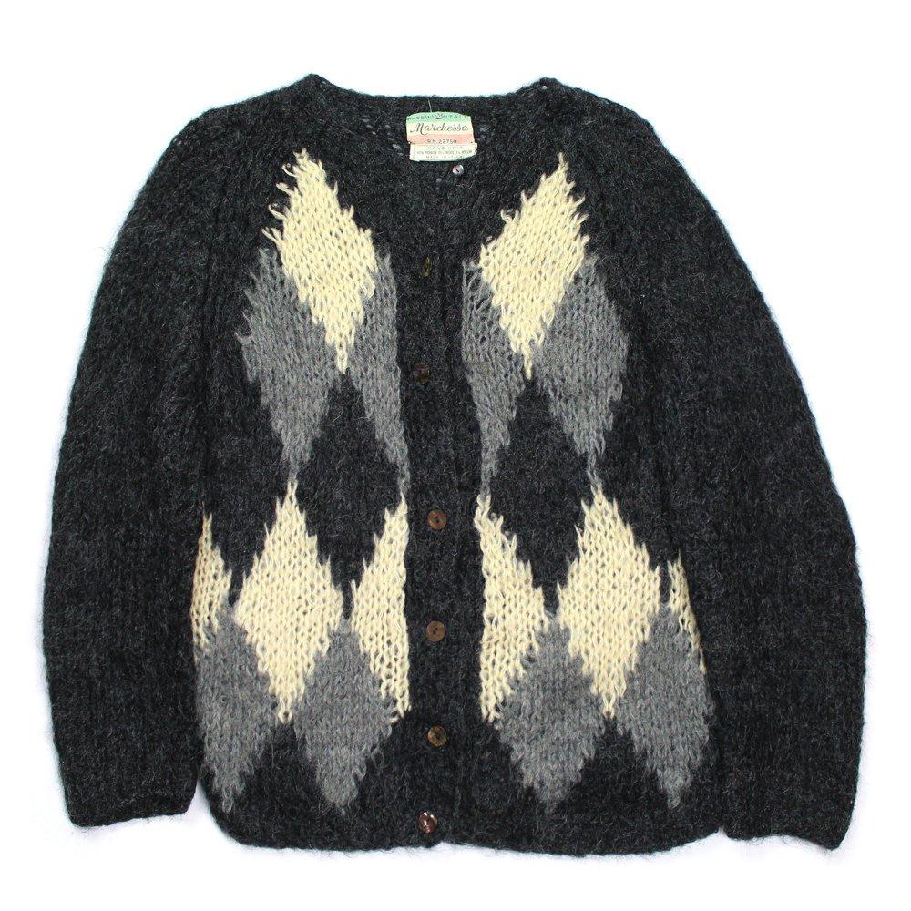 古着 通販 ヴィンテージ モヘア イタリアンニット カーディガン【Made in Italy Hand Knit】【1960's-】Vintage Mohair Cardigan