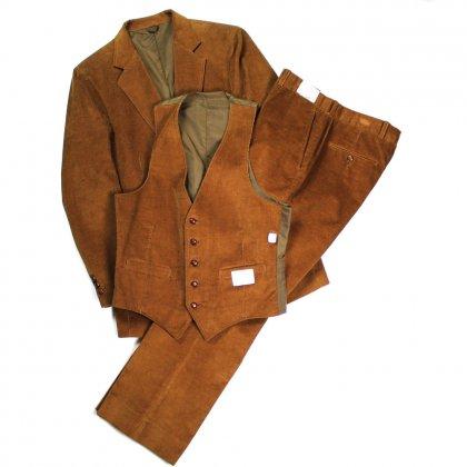 古着 通販 ヴィンテージ コーデュロイ デッドストック スリーピース・スーツ【Sears】【1980's】ヴィンテージ セットアップ