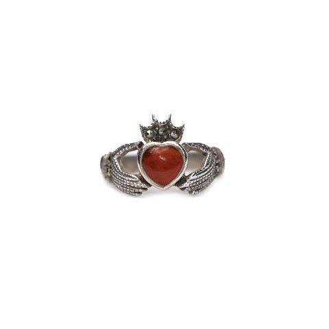 古着 通販 ヴィンテージ クラダーリング【925】【Carnelian Stone】Vintage Claddagh Ring