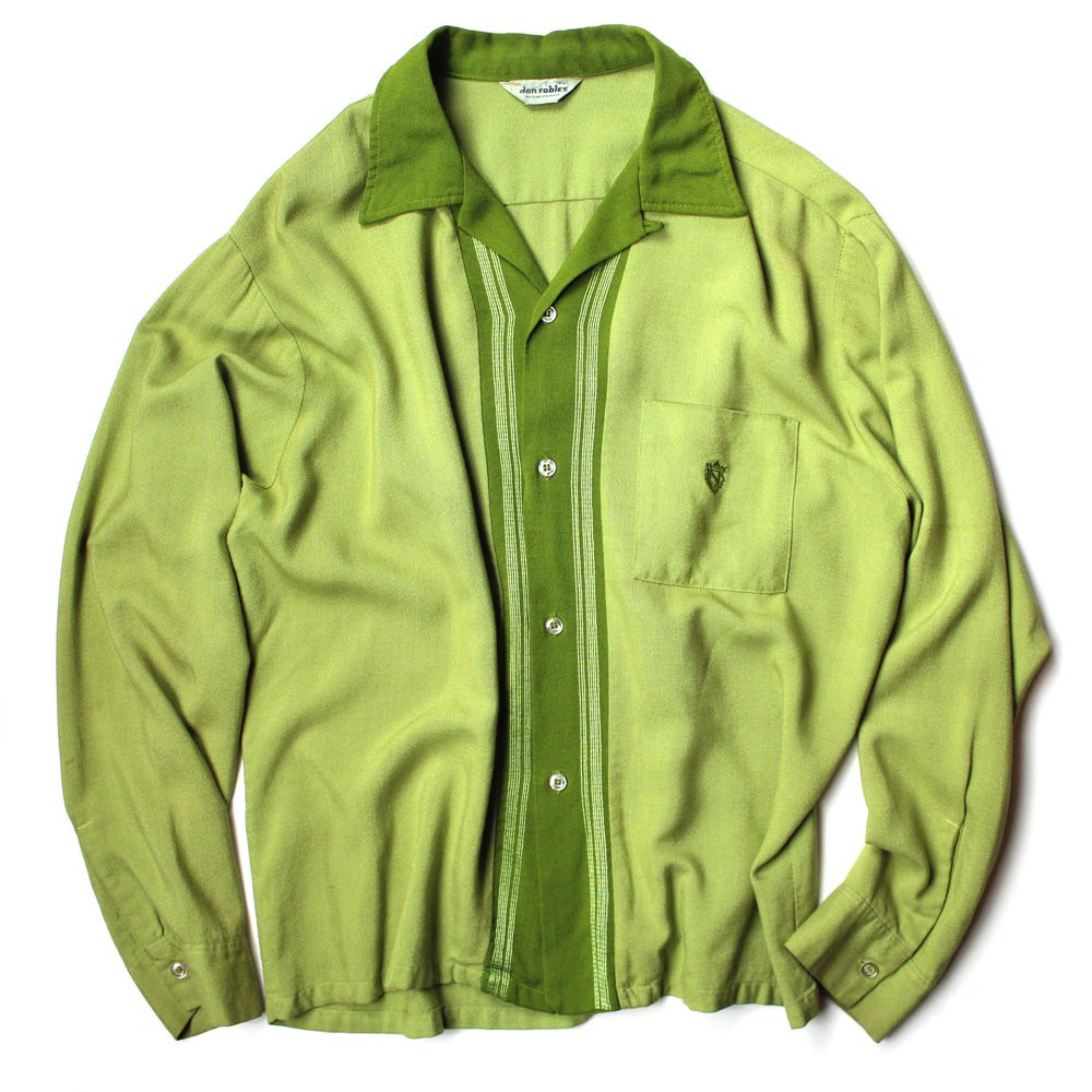 古着 通販 ヴィンテージ レーヨン L/S オープンカラーシャツ【don robles】【1960's~】Vintage Open Collar Shirts