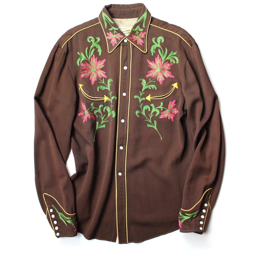 古着 通販 ヴィンテージ レーヨンウール ウエスタンシャツ【California Ranchwear】【1950's】Vintage Western Shirts