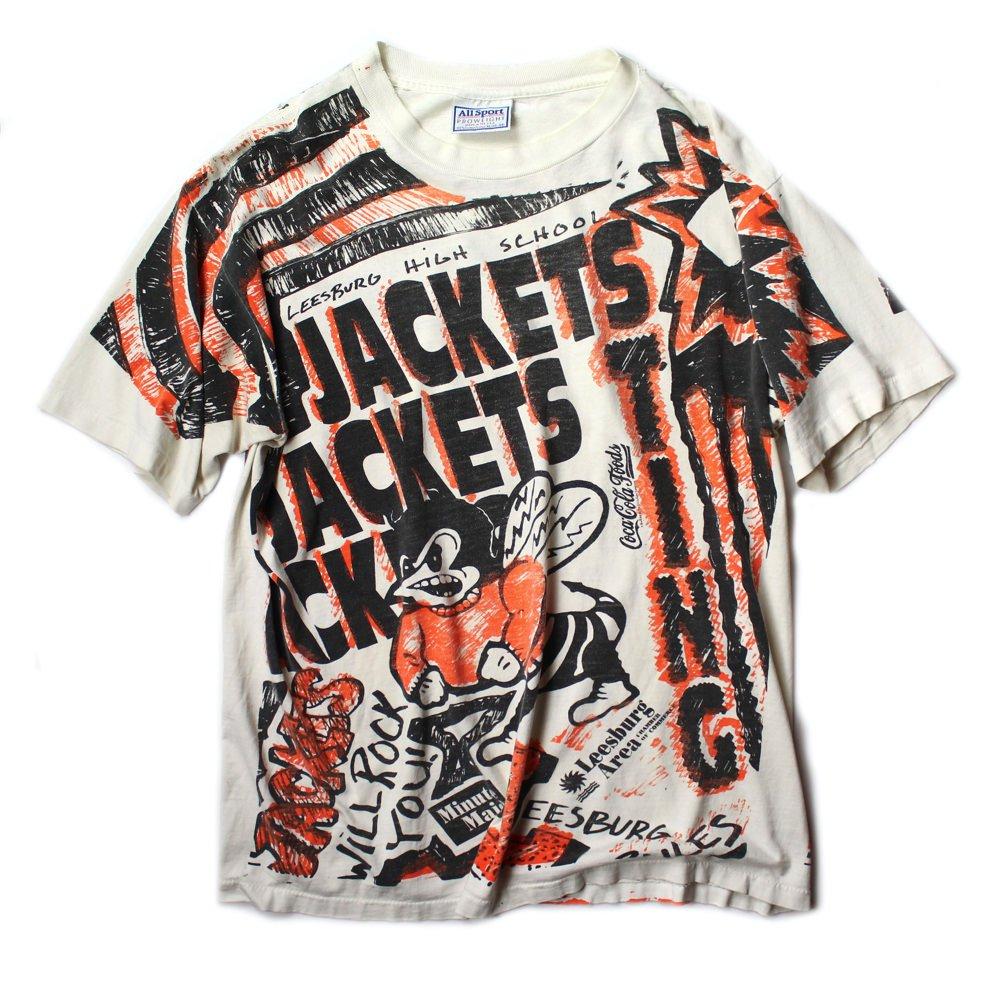 古着 通販 ヴィンテージ カレッジ Tシャツ【Leesburg High School】【1990s-】全面プリント