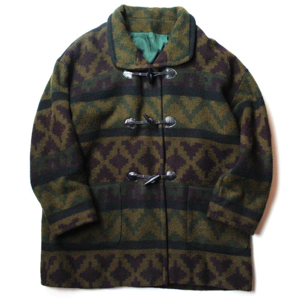 古着 通販 ヴィンテージ エスニックパターン ウールコート【1980's~】Vintage Wool Coat