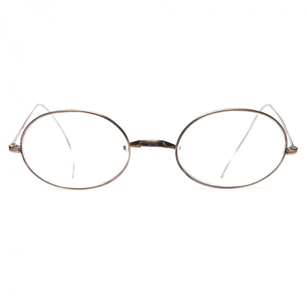 古着 通販 アメリカンオプティカル ヴィンテージ メガネ【American Optical】【1910's-】オーバル メタル フレーム ゴールド